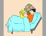 Coloring page Patient reading painted byAnia