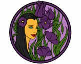 Coloring page Princess of the forest 3 painted byCherokeeGl