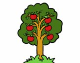 Coloring page An apple tree painted byKhaos