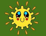 Coloring page Kawaii sun painted byKhaos