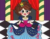 Coloring page Princess at the dance painted byYori
