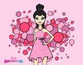 Coloring page Barbie Pink Princess painted byAnia