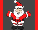 Coloring page Happy Father Christmas painted byAnia