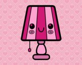 Coloring page A table lamp painted byAnia
