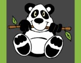 Coloring page Panda painted byAnia