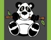 Coloring page Panda painted byAnia