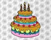 Birthday fruit tart