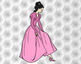 Coloring page Princess and shoe painted byAnia
