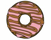 Coloring page Donut painted byAnnanymas