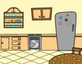 Coloring page Traditional Kitchen painted byAnia