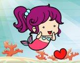 Coloring page Chibi mermaid painted byrandol9572