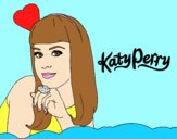 Coloring page Katy Perry painted byAnia