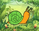 Coloring page The snail painted bysamg