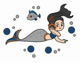 Coloring page Magical mermaid painted byKhaos006