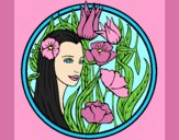 Coloring page Princess of the forest 3 painted byAnia