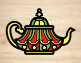Coloring page Arabic Teapot painted byAnia