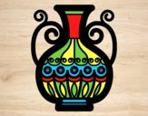 Coloring page Decorated vase painted byAnia