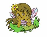 Coloring page Pretty fairy painted bymicheleof4