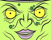 Coloring page Witch face painted bymicheleof4