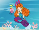 Mermaid and jellyfish