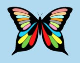 Coloring page Butterfly 19 painted bylorna