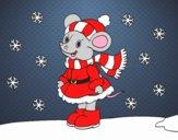 Little rat Sheltered at Christmas