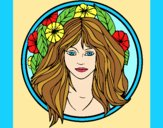 Coloring page Princess of the forest 2 painted bylorna