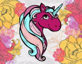 Coloring page A unicorn painted byMissMel333
