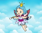 Coloring page Little magic fairy painted bybbbb