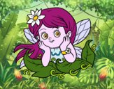 Coloring page Pretty fairy painted bybbbb