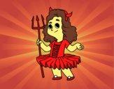 Demon little girl costume