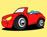 Coloring page New car painted bylorna