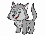 Coloring page Young wolf painted bytapulunala