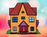 Coloring page House with balconies painted bySamantha