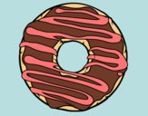Coloring page Donut painted bybbbb