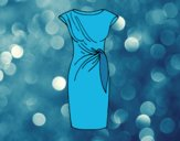 Coloring page Elegant dress painted byANIA2