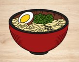 Coloring page Ramen bowl painted bybbbb