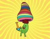 Coloring page Alchemist mushroom painted byPiaaa