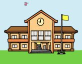 Coloring page School painted bylorna