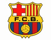 Coloring page F.C. Barcelona crest painted byOwen