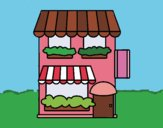 Coloring page Grocery store painted bySkye
