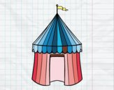 Coloring page Circus tent painted bynayrb