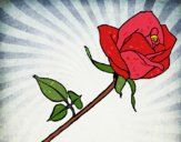 Coloring page Rose painted byJena