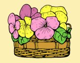 Coloring page Basket of flowers 12 painted byLornaAnia