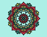 Coloring page Mandala to relax painted byLornaAnia