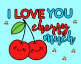 Coloring page I love you cherry much painted byLornaAnia