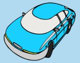 Coloring page Speedy car painted byLornaAnia