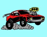Coloring page Sport muscle car painted byLornaAnia