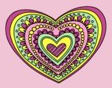 Coloring page Heart mandala painted byLornaAnia