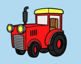 Coloring page A tractor painted byLornaAnia